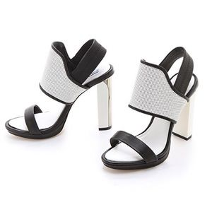 BCBGMAXAZRIA Jovian Color-Block High Heel Sandals